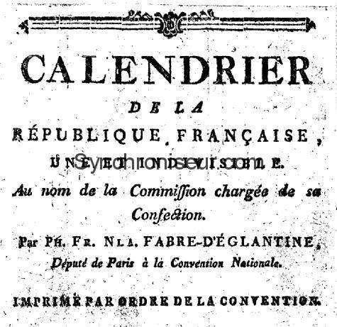 Calendrier Republicain 1793.Calendrier Republicain Heure Decimale